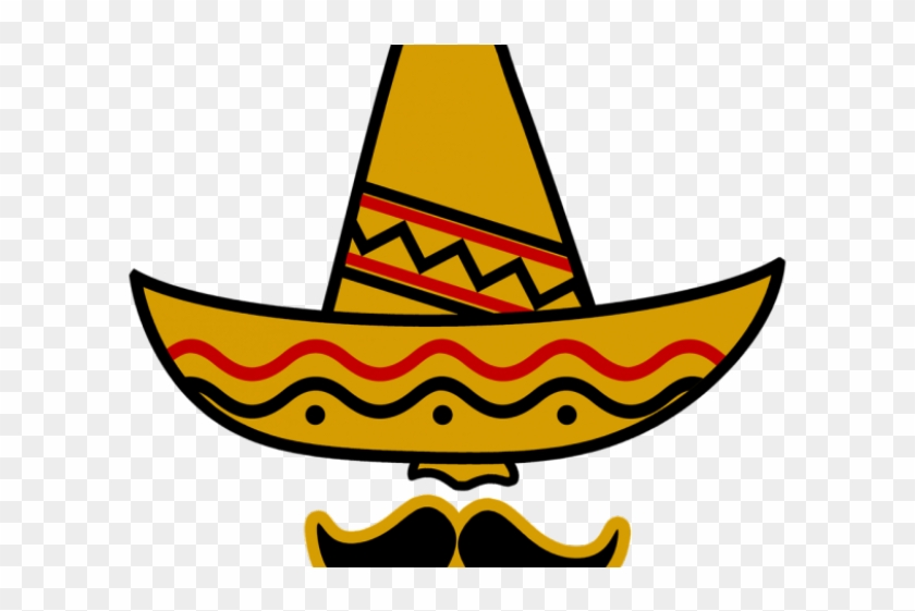 Wild West Clipart Cinco De Mayo - Mexican Hat And Mustache #1632453