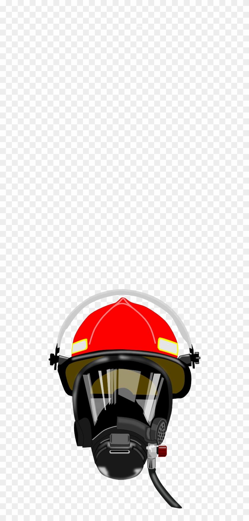 Fire Helmet Mask Clipart - Firefighter Mask Clipart #1633651