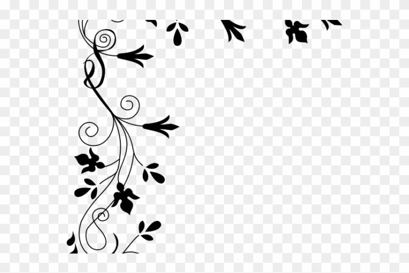 Floral Clipart Line - Flower Floral Border Designs #1634318