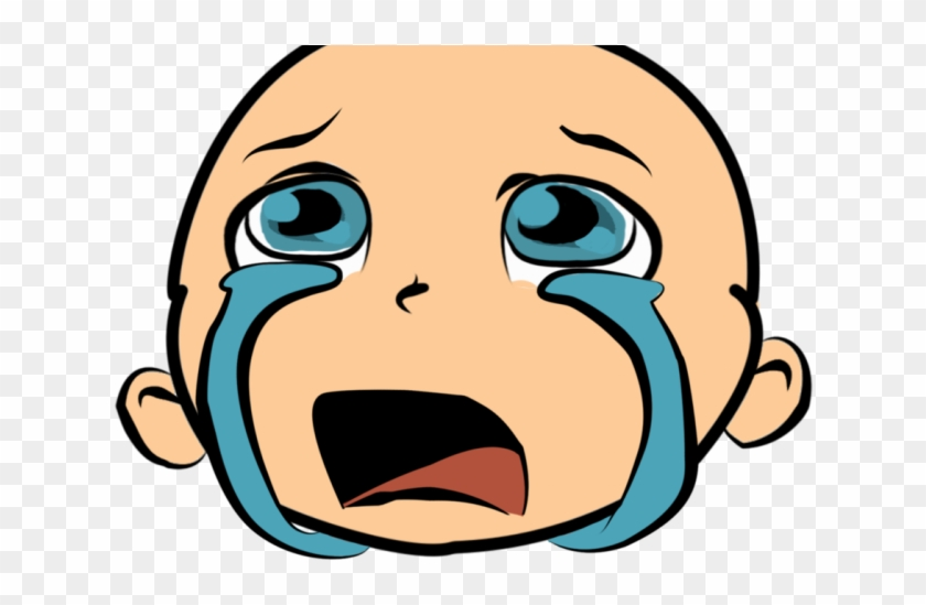 Crying Clipart Hurt Girl - Cute Baby Face Clip Art #1635998