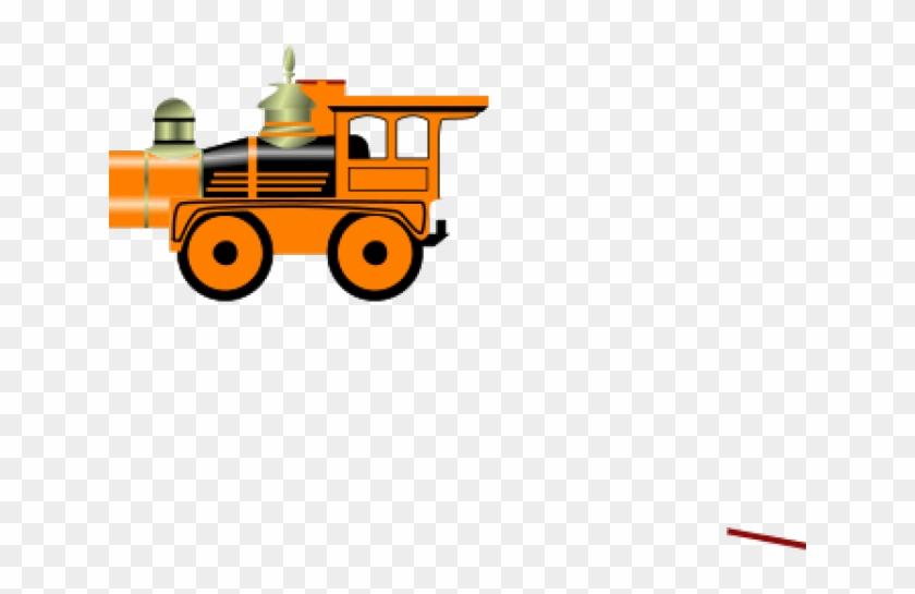 Train Clipart Orange - Train Clip Art #1637231