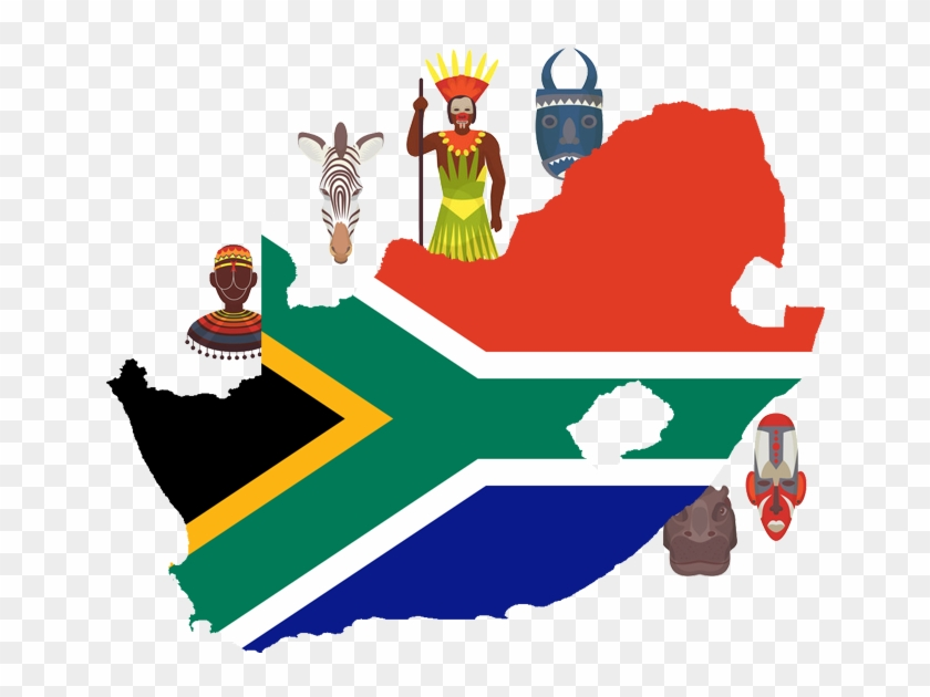 On Demand App Solution South Africa - South African Flag Country Shape #1637355