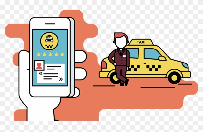 Car Rental Software - Taxi Booking Vector - Free Transparent PNG