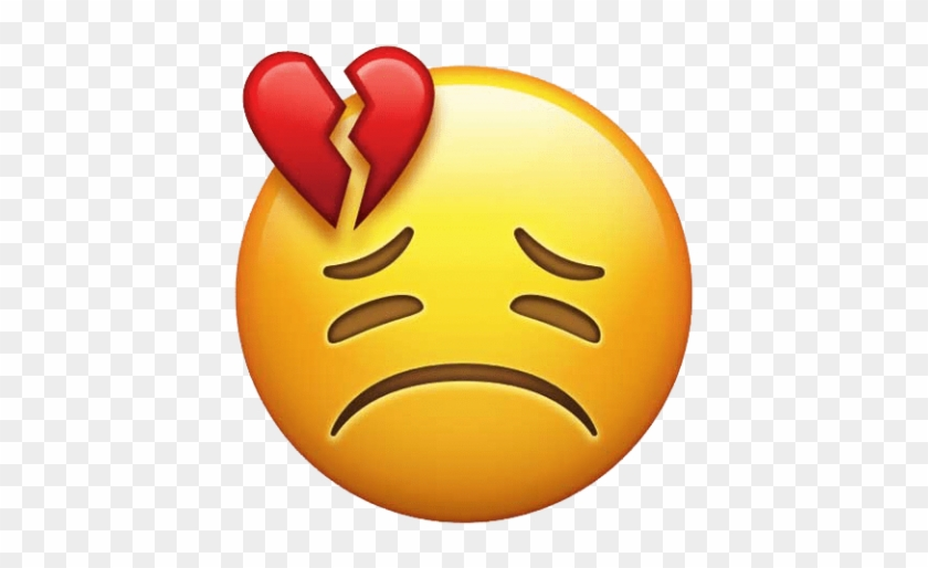 Free Png Download Heart Broken Emoji Red Clipart Png - Red Heart