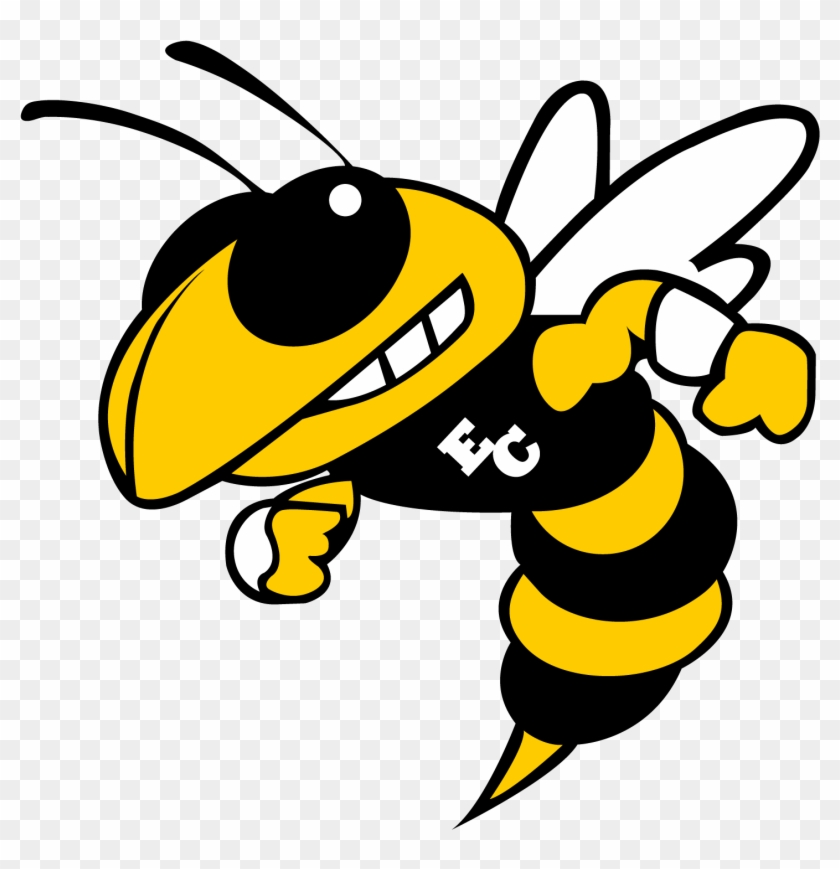 The East Central Hornets - Georgia Tech Yellow Jackets Logo #1638935