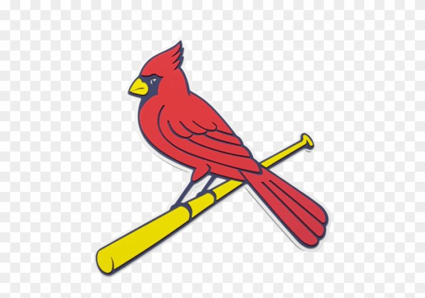 Free Png Download St Louis Cardinals Mlb 3d Foam Logo - Cardinals Bird On Bat #1640712