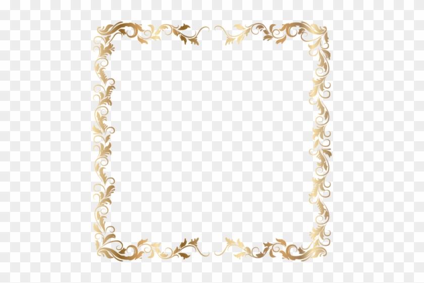 Free Png Download Border Deco Frame Gold Clipart Png - Transparent Background Gold Border Png #1641622