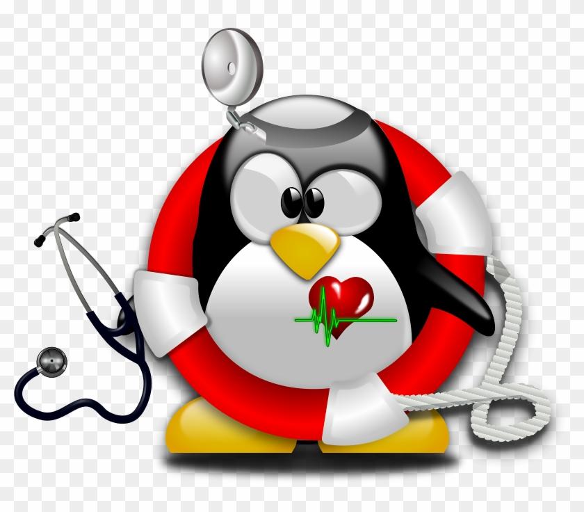 Evening Dress For Emergency Nursing Staff - Linux Penguin Tux Icon #1643846