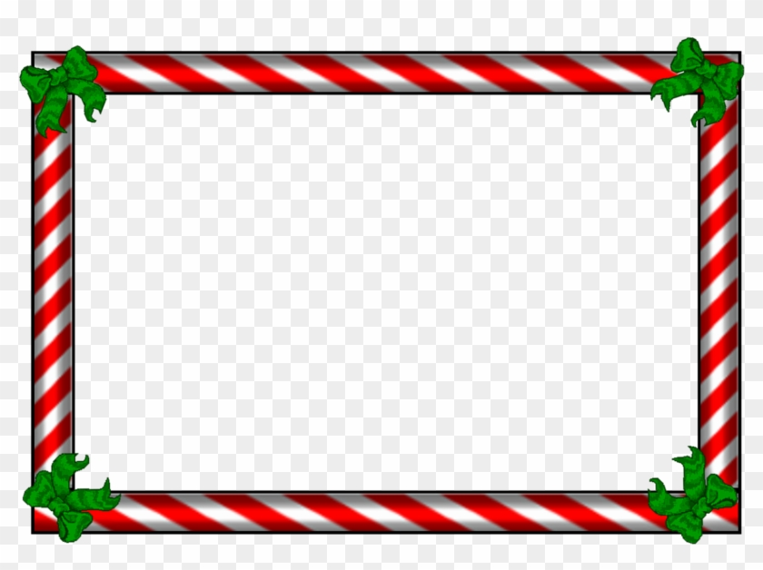 Candy Cane Borders And - Christmas Candy Cane Border #1644181