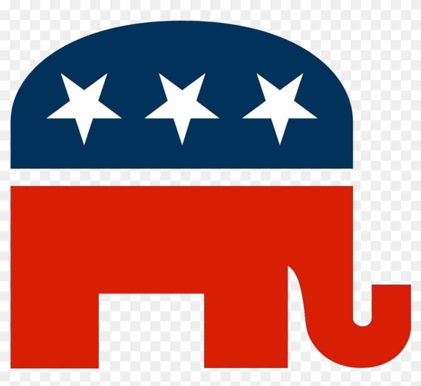 Republican Elephant Black Background #1646329