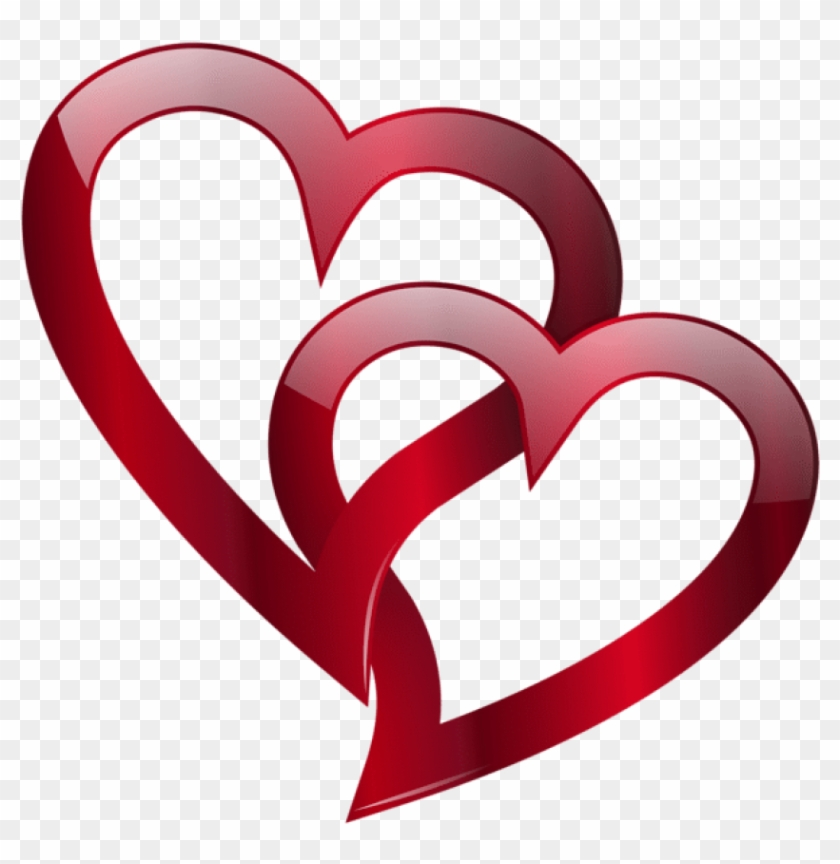 Red Double Heart Png Free Png Images Toppng - Double Heart Images Png #1647022