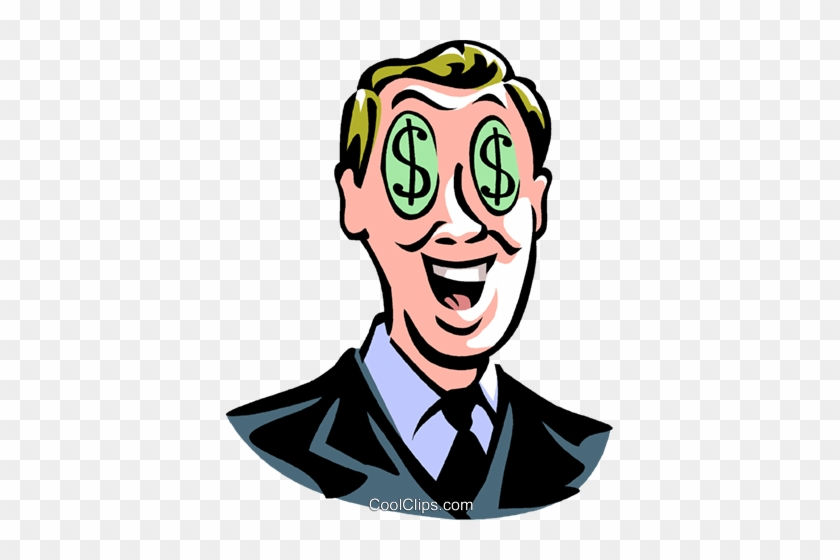 Deluxe Cash Background Man With Dollar Sign Eyes Royalty - Man With Dollar Signs In Eyes #1648312