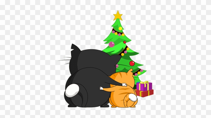 Silly Darn Cat Messages Sticker-6 - Christmas Tree #1648400