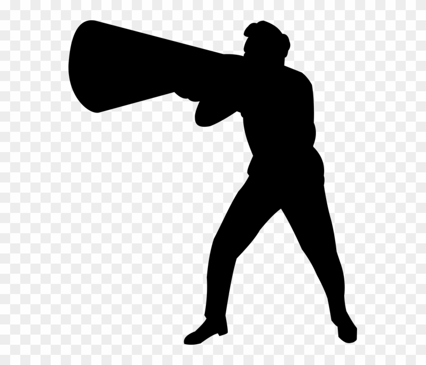 Man With Megaphone Silhouette - Man Shouting Silhouette Png #1648712