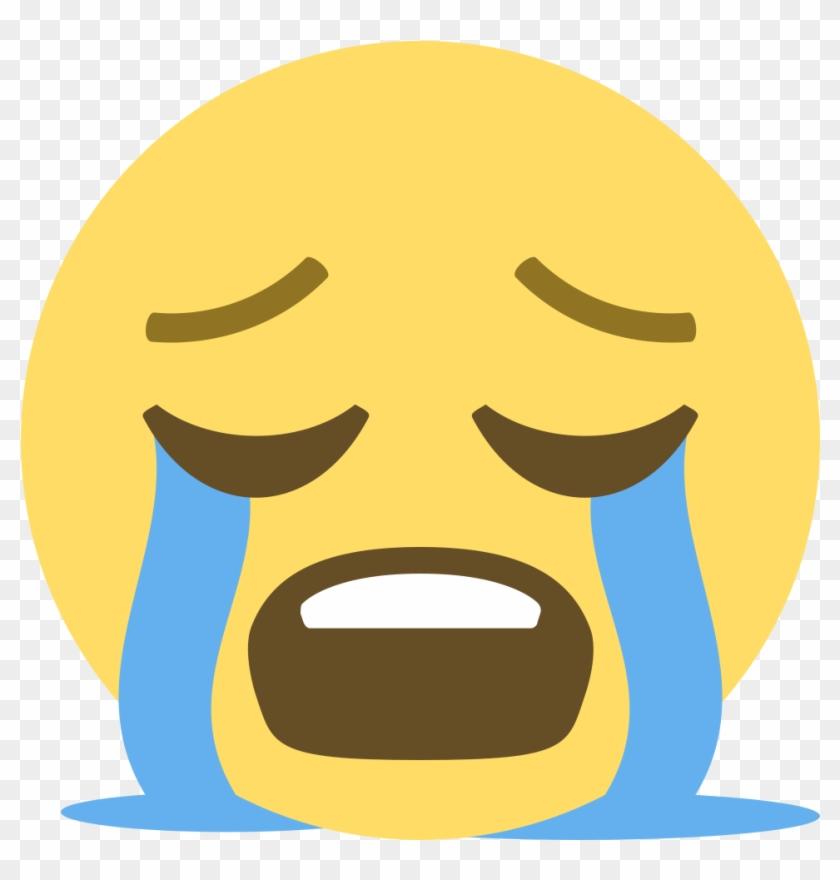 File Emojione 1f62d Svg Crying Emoji Vector Free Transparent