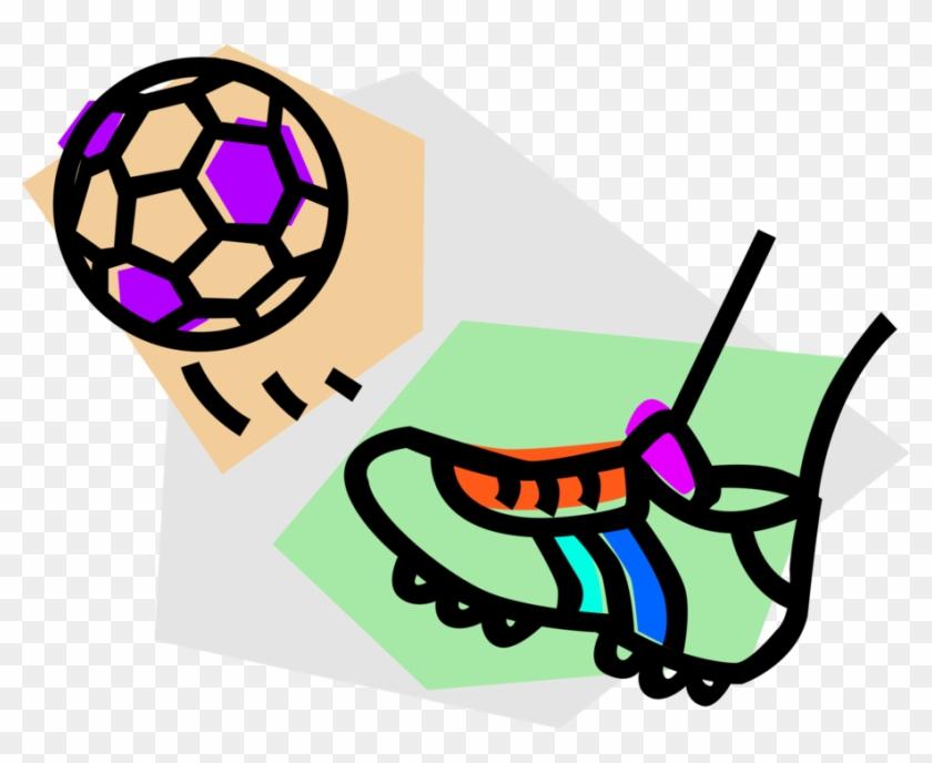 Vector Illustration Of Sport Of Soccer Football With - Cartoon Football Boot #1649638