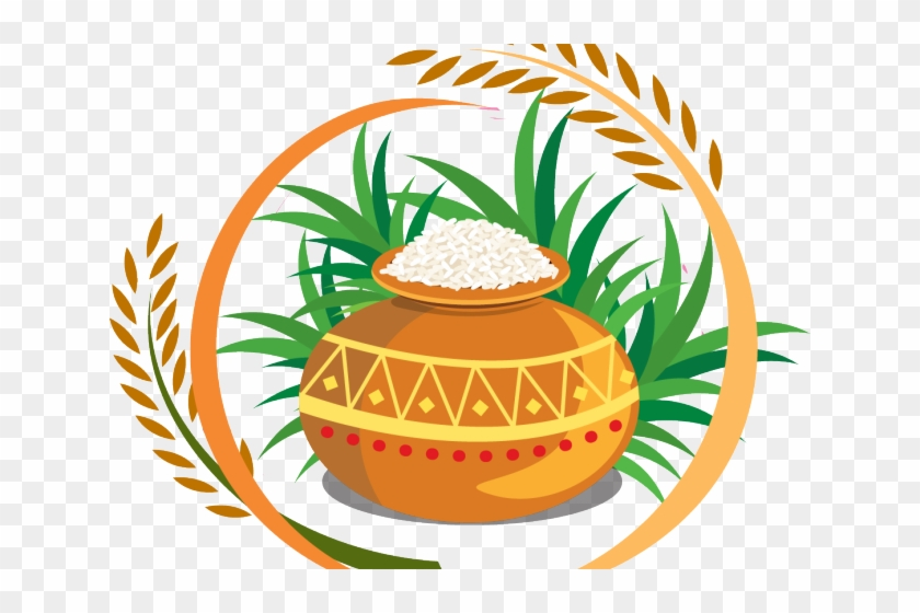 Agriculture Clipart Pongal - Happy Pongal Logo Png #1650025
