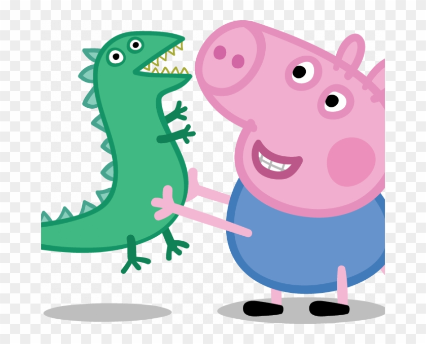 Peppa Pig Pictures To Download Free Peppa Pig Partner - Peppa Pig George With Dinosaur #1651439