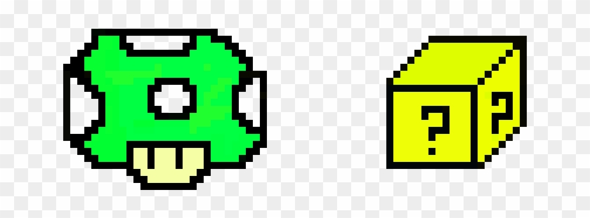 Super Mario Pixel Art 1up Mushroom And 3 D Mystery Mystery Box