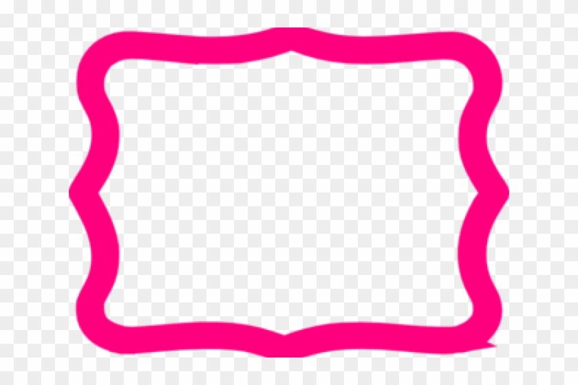 Vector Frame Clipart Fuschia Pink - Hot Pink Frame Clipart #1655482