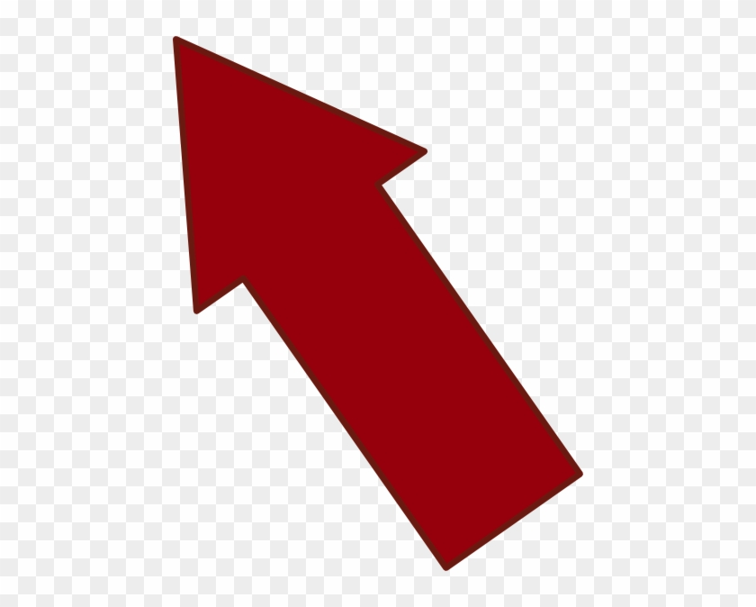 Red Arrow Pointing Upleft Clip Art At Clipart Library - Arrow Pointing Up Left #254363