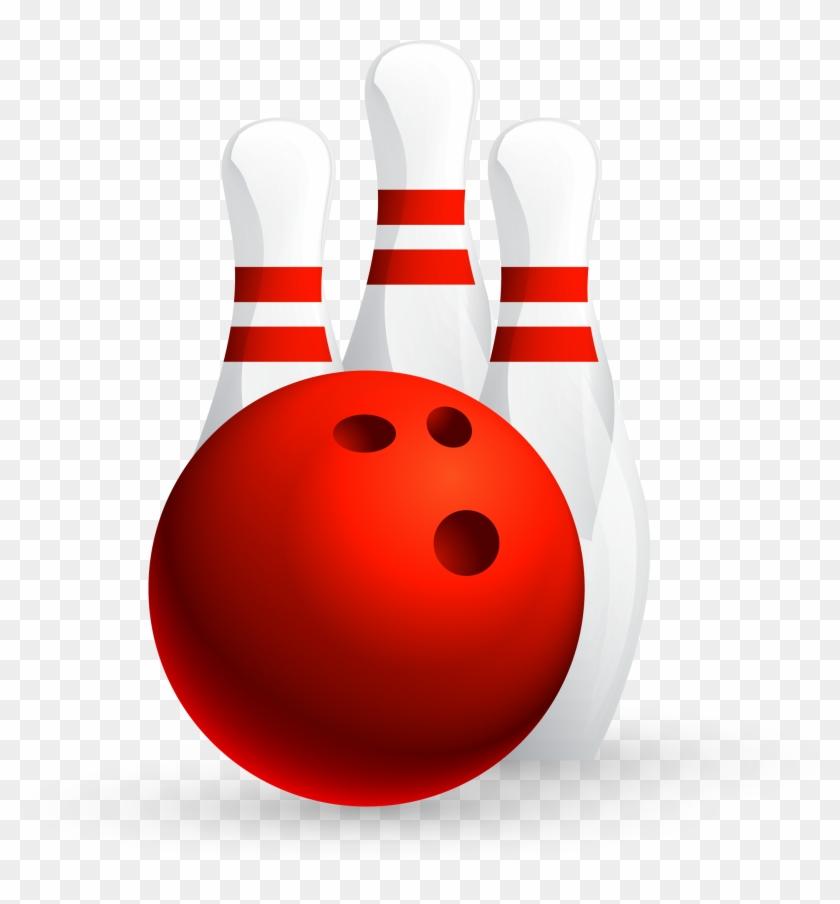 Bowling Ball Ten-pin Bowling Game Bowling League - Red Bowling Ball #254683