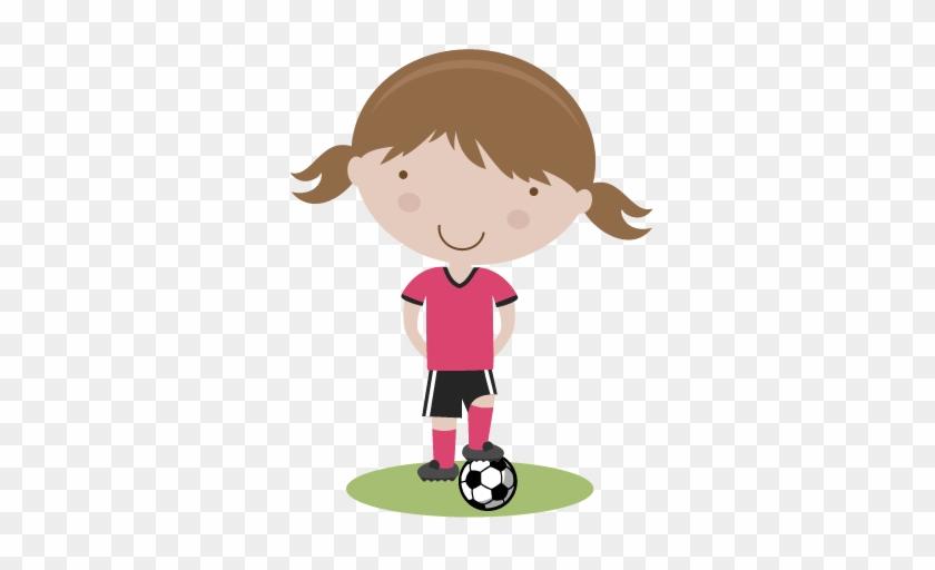 Girl Soccer Player Svg Cutting File Soccer Svg Cut - Girl Soccer Player Clipart #254708