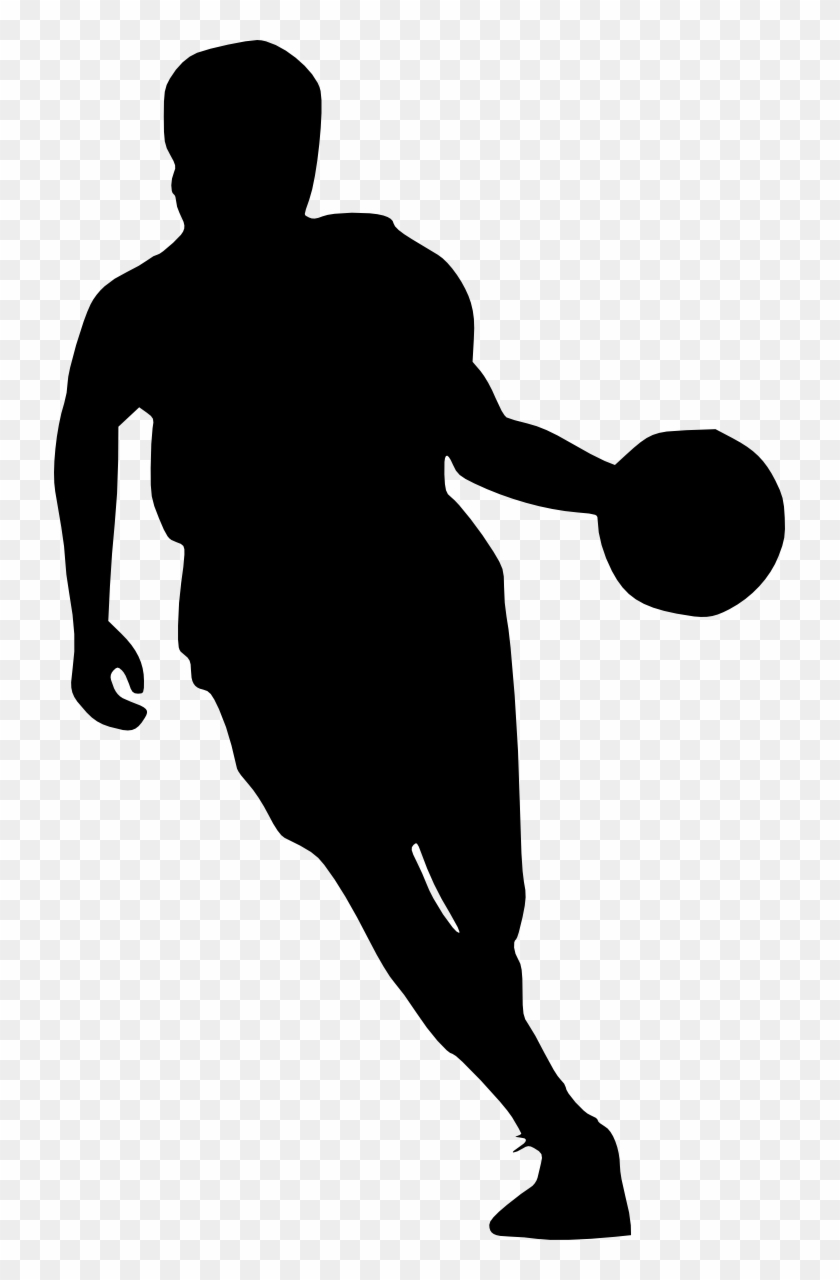 Free Download - Basketball Player Silhouette Png #254733