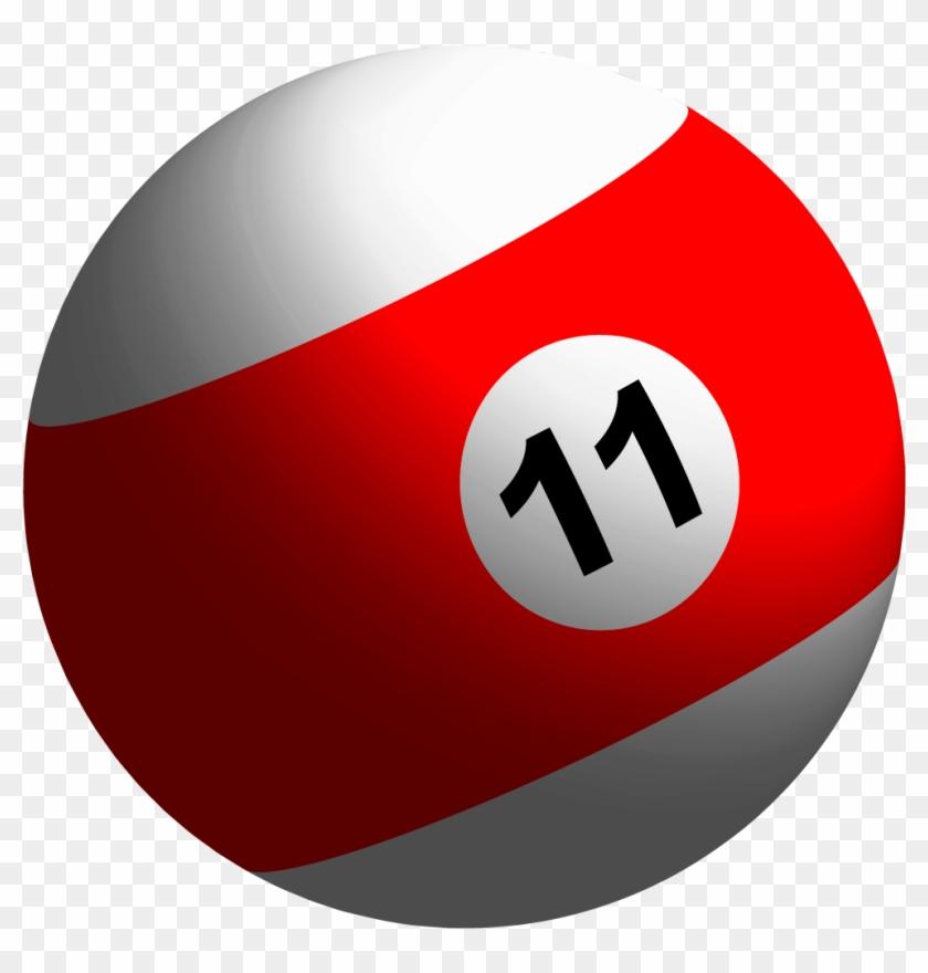 3-d Billiard Ball Tutorial - Striped Balls In Pool #254884