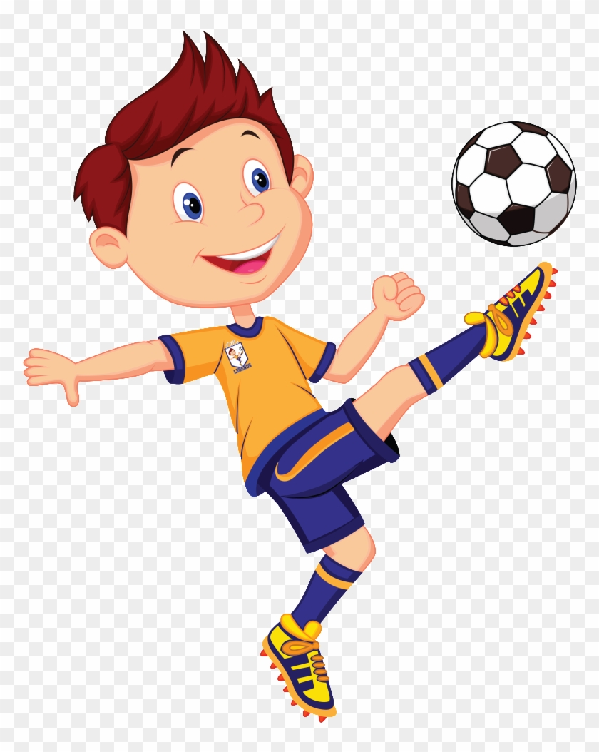 Boys Soccer - Playing Football With Friends Clipart #254903