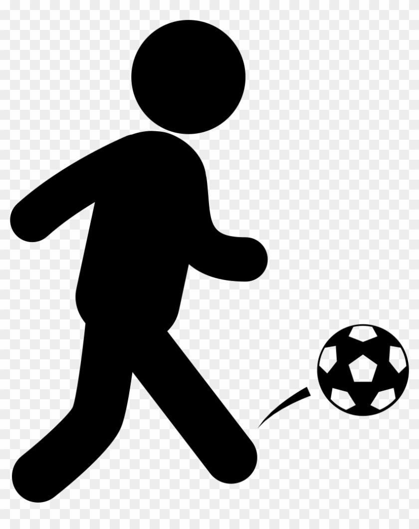 Soccer Player With Ball Comments Playing Soccer Icon Png Free