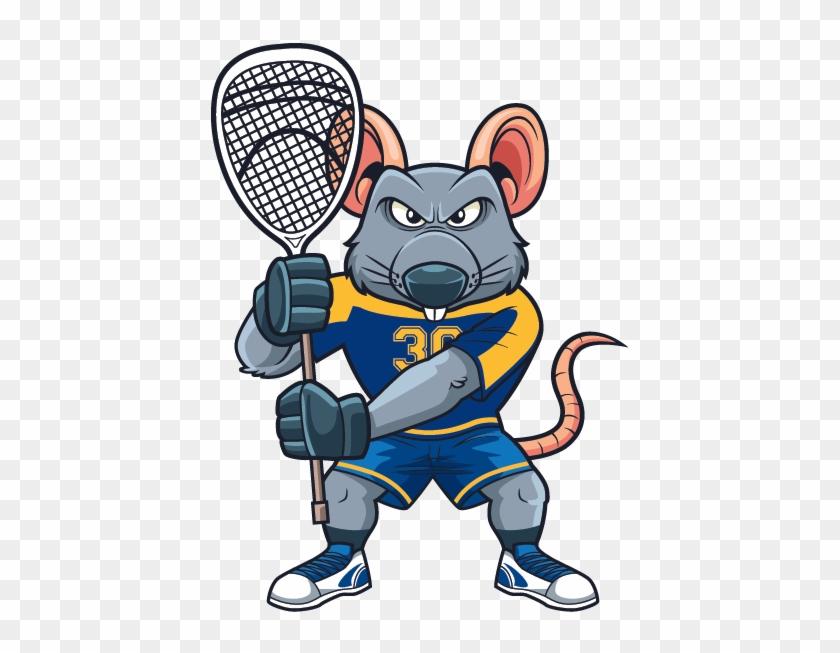 Lax Goalie Rat Mascot - Rat #255040