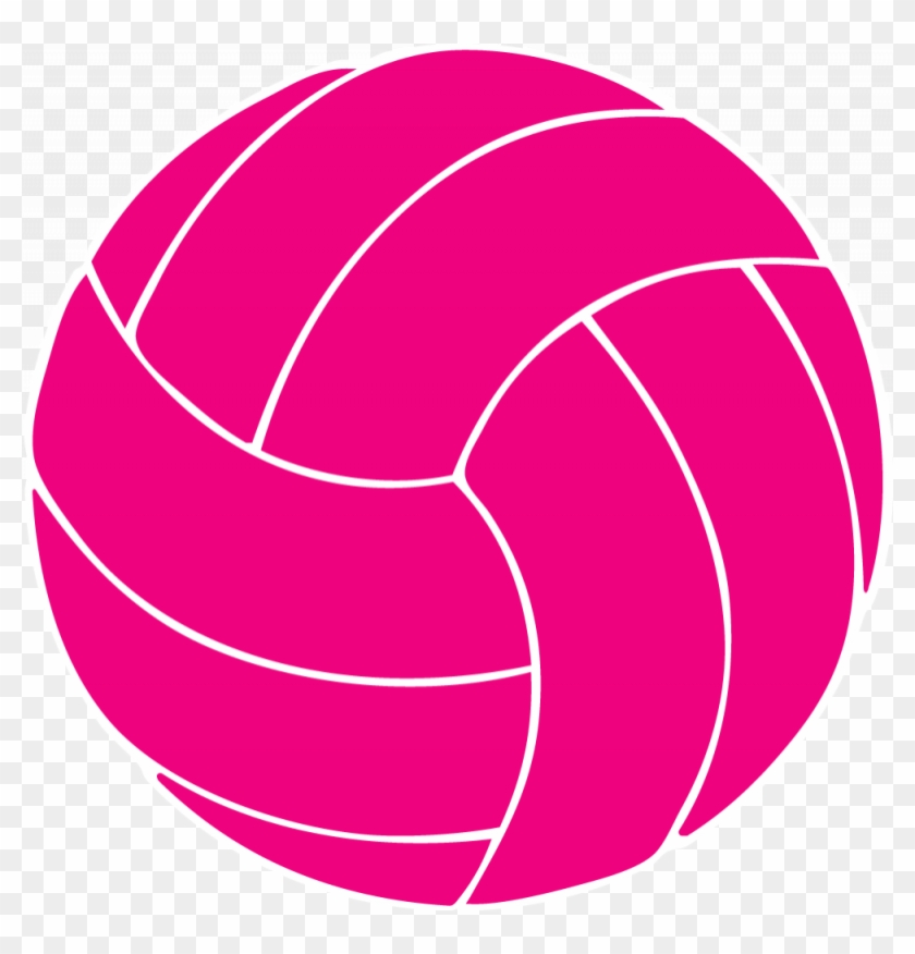 Pink Volleyball Clip Art - Distressed Volleyball Svg #255077