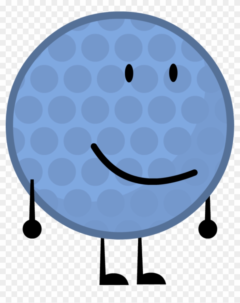 Blue Golfball By Brownpen0 - Golf Ball In Bfdi #255085