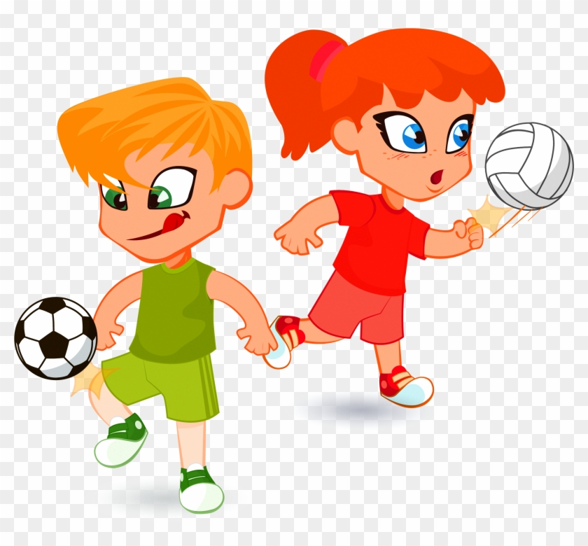 Child Cartoon Illustration Children Playing Football Cartoon Free Transparent Png Clipart Images Download