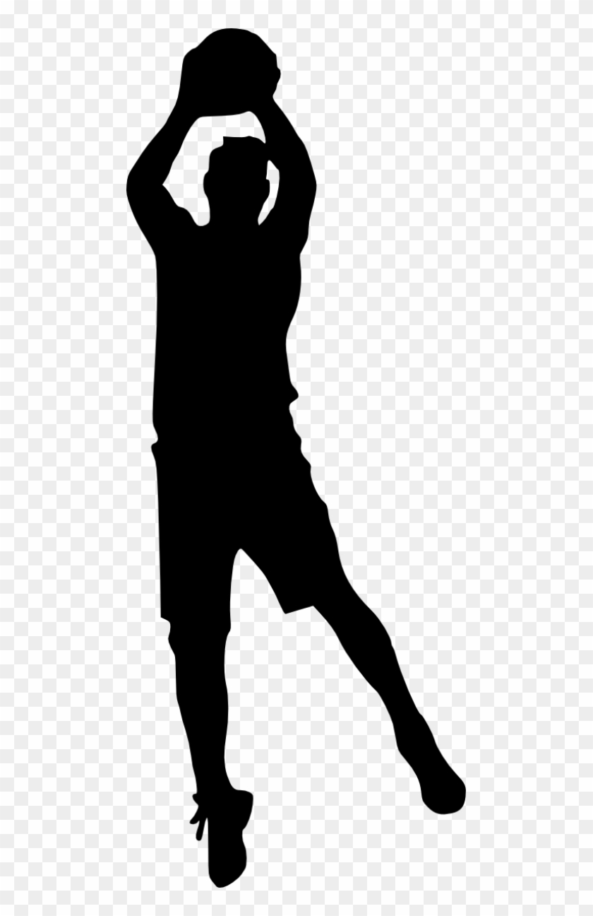 Free Download - Basketball Player Silhouette Png #255176