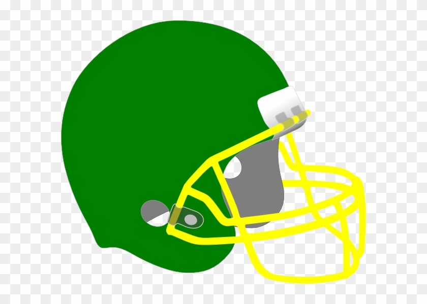Green Football Helmet Clipart Green And Yellow Football
