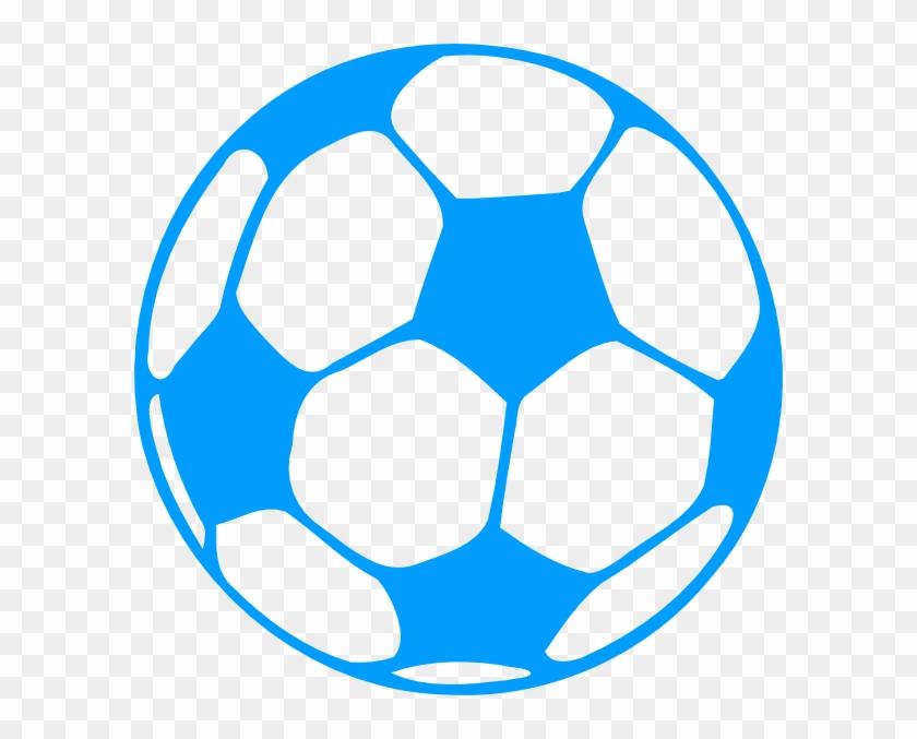 Soccer Ball Svg Clip Arts 594 X 597 Px - Teal Soccer Ball Clip Art #255392