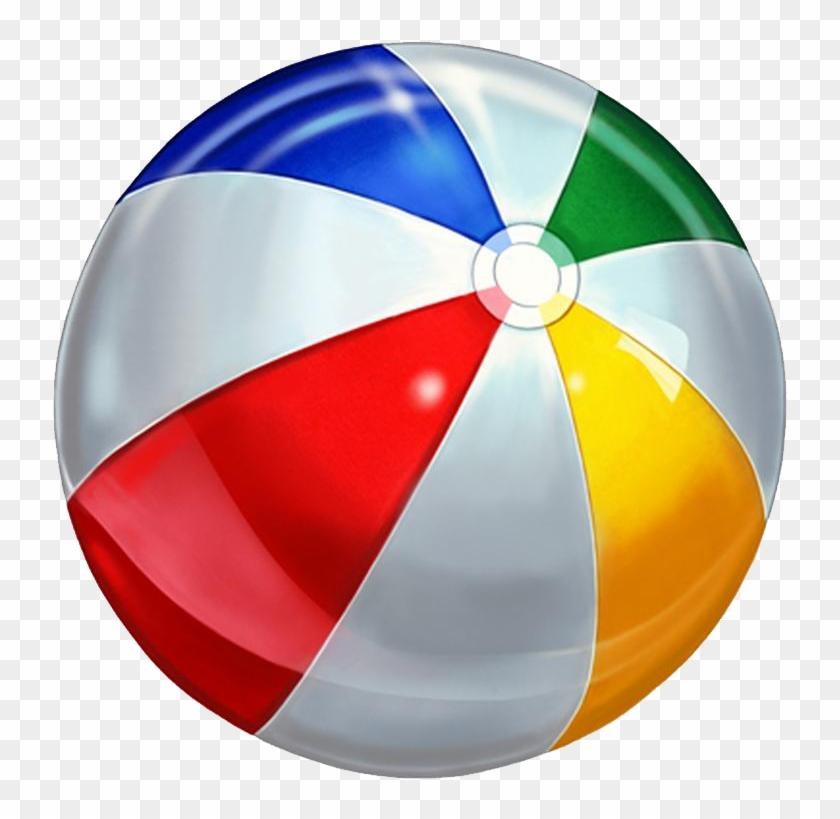 Beach Ball Clip Art - Swimming Pool Ball Png #255455