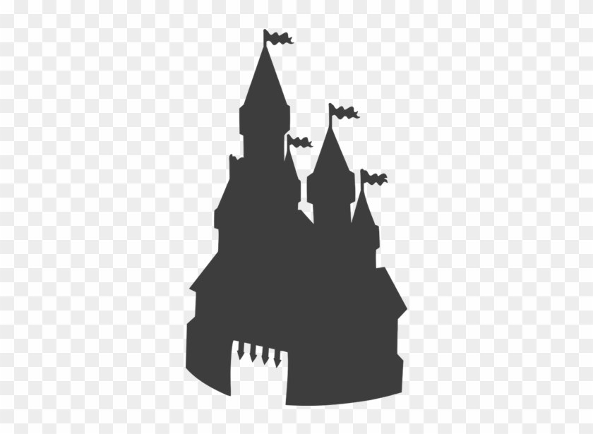 """Towering Fantasy Castle Wall Decal €"""" Easy Decals - Castle Silhouette #255837"""
