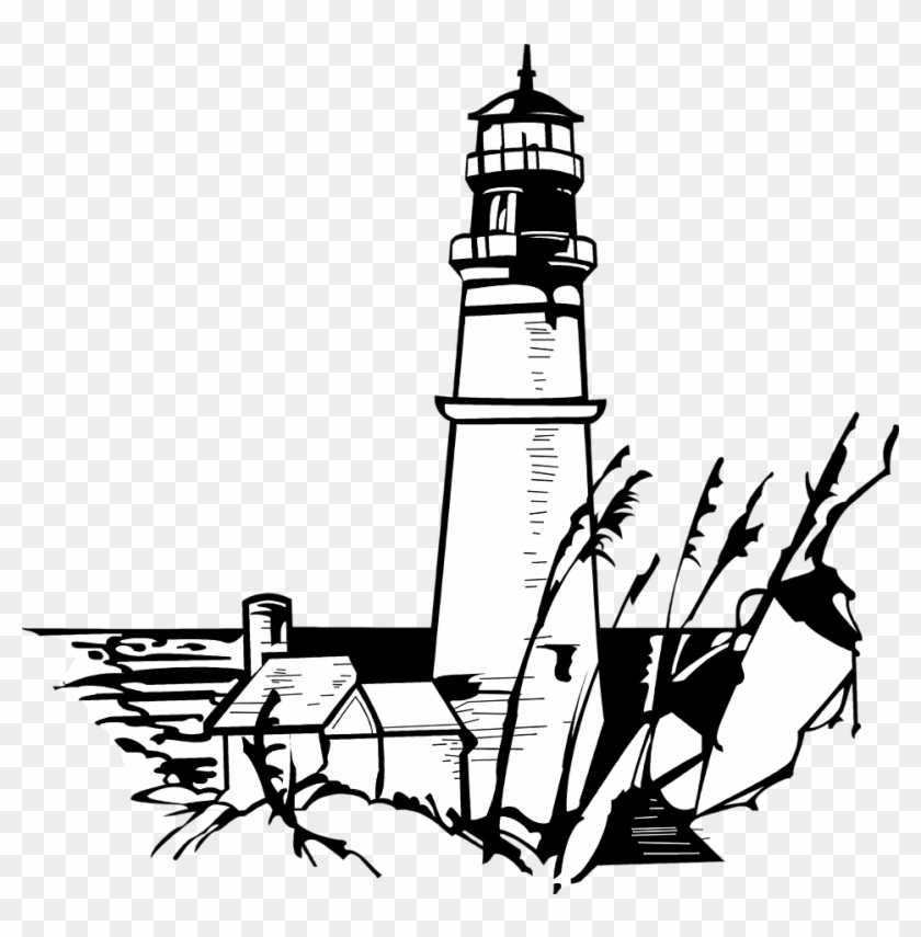 Lighthouse Clipart Black And White - Lighthouse Clipart Black And White #255895