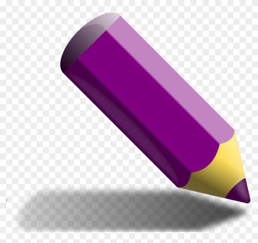 Violet Pencil - Purple Colored Pencil Clipart #255906