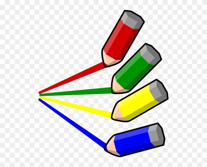 Color Pencil Stripes Clip Art At Clker - Color Pencil Art Png #255925