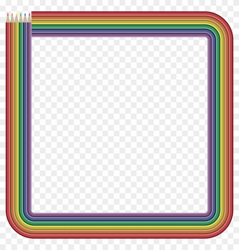 - Eps, - Svg, - Free Clipart Of A Frame Of Colored - Colored Pencil Frame Png #255929