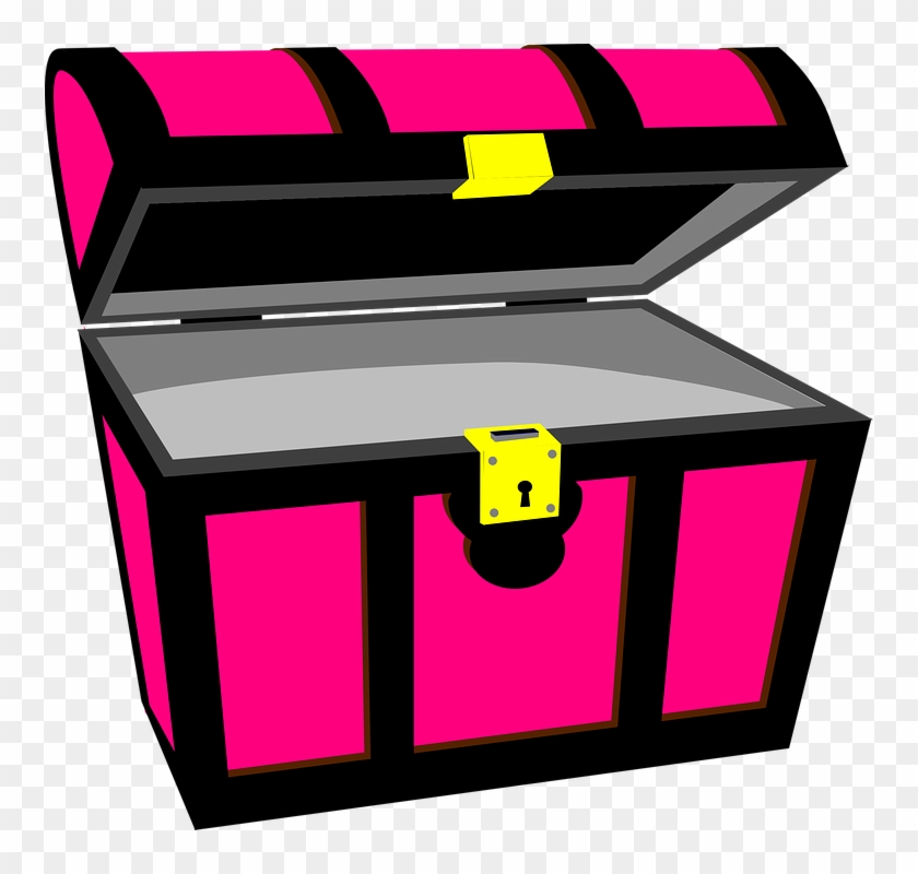 Chest Clipart Vector - Pink Treasure Chest Clipart #256005