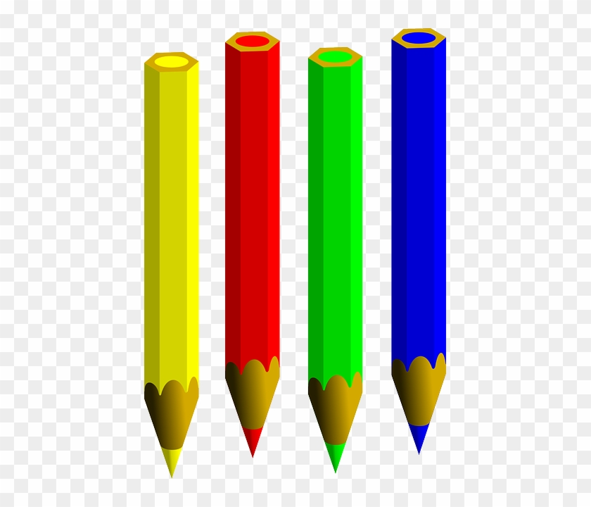 Pencils, Colored, Pen, Write, Bleistift, Sharp, Yellow - Single Colour Pencil Png #256037