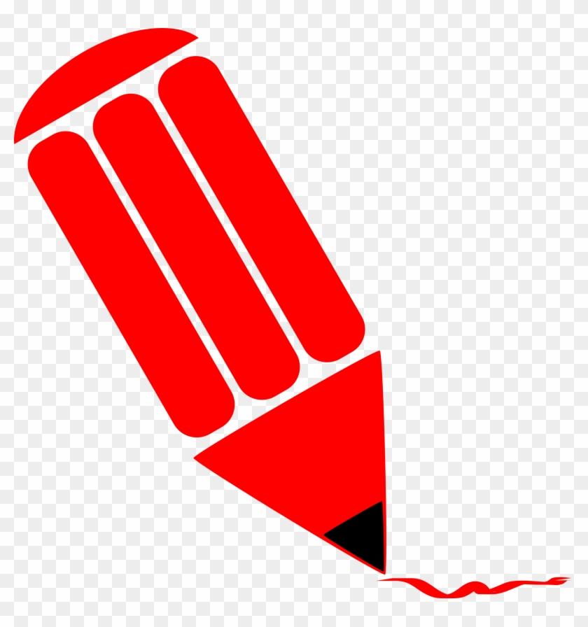 Pencil Stylized Red Dibujo De Lapiz Rojo Free Transparent Png