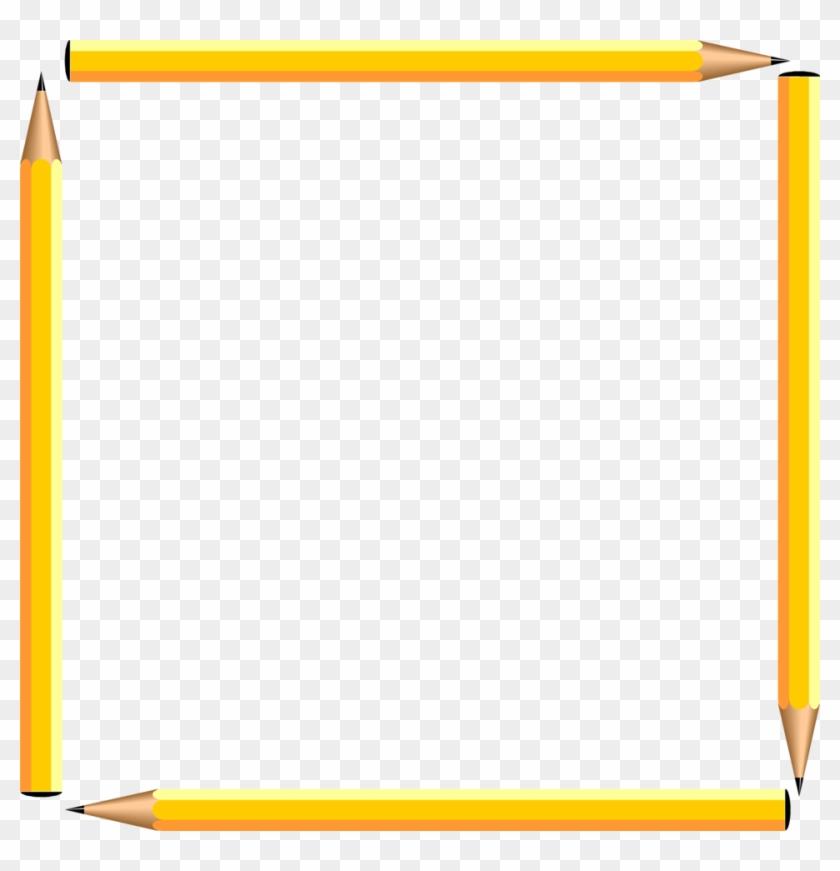 Pencil Border Pencils Free A Blank Pencil Frame - Free Clip Art Borders School #256092