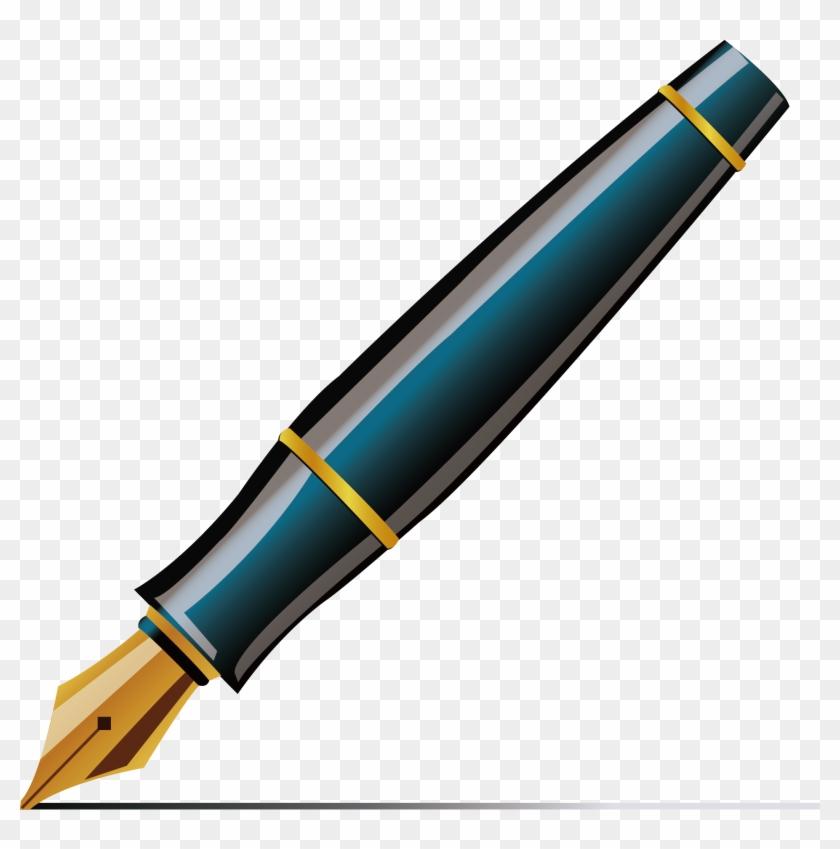 Fountain Pen Ballpoint Pen Quill Clip Art Ink Pen Vector Png