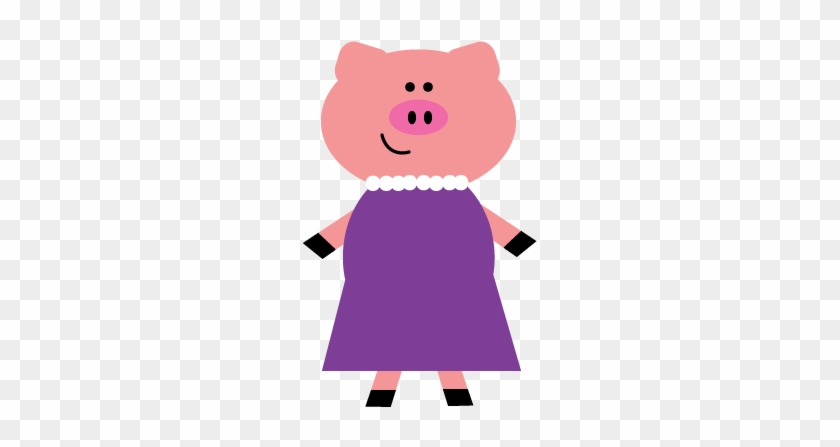 My First Clipart Endeavor - Mummy Pig Three Little Pigs - Free